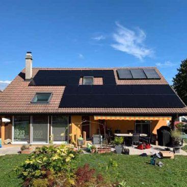 20 panneaux photovoltaique en surimposition