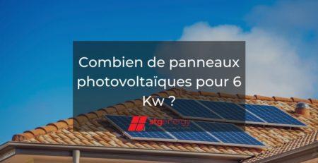 combien de panneaux photovoltaïque pour 6 Kw
