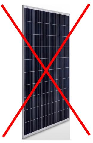 panneau solaire bas de gamme